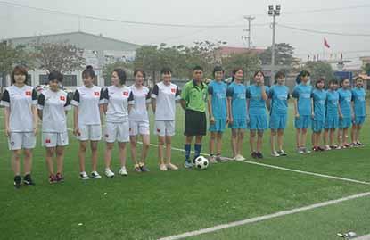Lễ khai mạc giải bóng đá nữ HTT