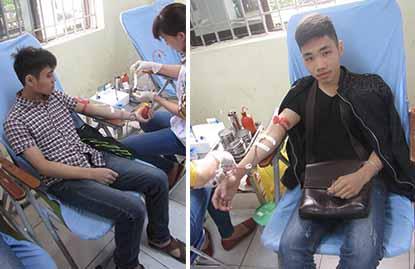 Sinh viên HTT tham gia hiến máu tình nguyện