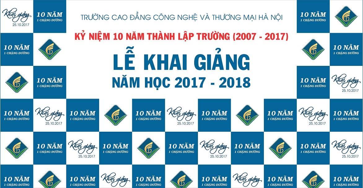 Lễ Khai giảng năm học 2017 - 2018 và kỉ niệm 10 năm thành lập Trường (2007 - 2017)