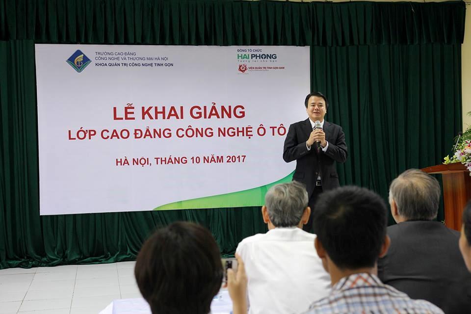 Ông Nguyễn Đăng Minh phát biểu kết thúc Lễ Khai giảng