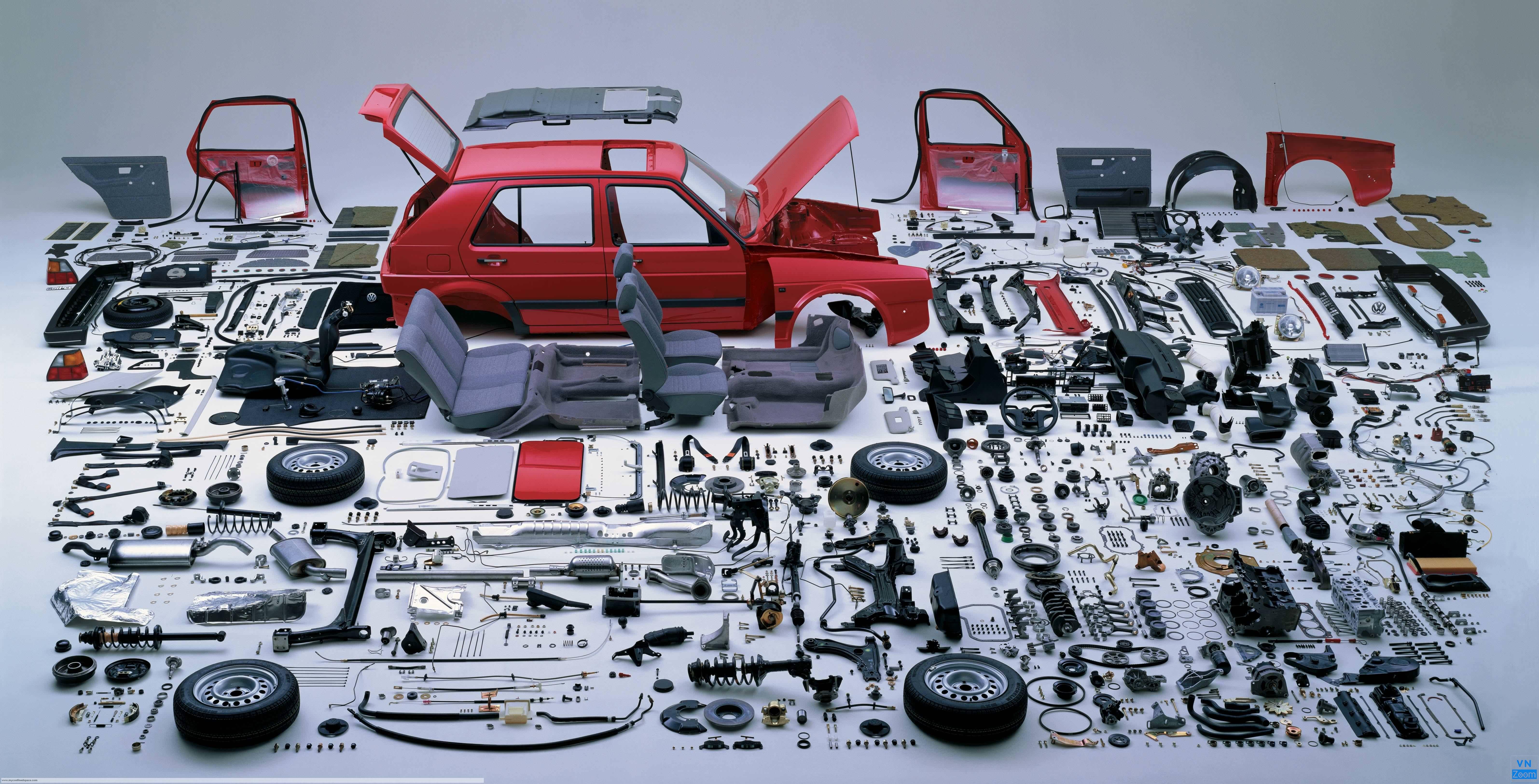 Một sản phẩm ô tô có vô vàn chi tiết máy