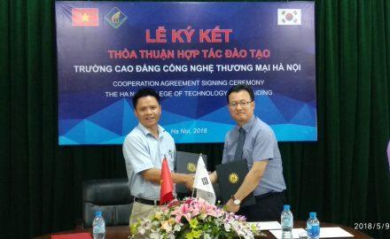 Lễ ký hiệp ước giao lưu quốc tế với trường Đại học MunKyung Hàn Quốc