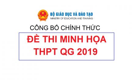 Bộ Giáo dục Đào tạo công bố bộ Đề thi tham khảo THPT quốc gia năm 2019