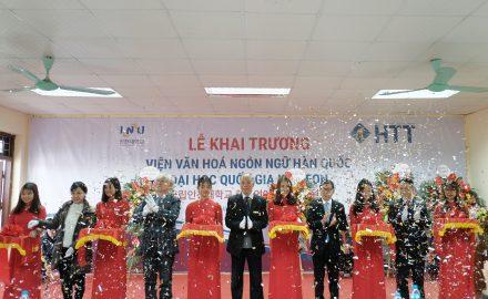 Lễ cắt băng khánh thành và khai trương Viện Văn hóa – Ngôn ngữ Hàn Quốc tại HTT
