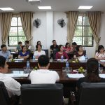 Tiếp đón và làm việc với trường THPT Kinh Đô và THPT Dân lập Ngô Tất Tố