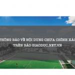 Thông báo về nội dung chưa chính xác đăng trên báo Giaoduc.net.vn