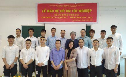 Lễ bảo vệ đồ án tốt nghiệp sinh viên Khoa Xây dựng và Kiến trúc khóa 11