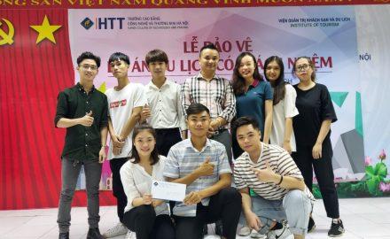 Lễ bảo vệ Dự án du lịch có trách nhiệm của sinh viên K11HDDL – Viện Quản trị Khách sạn và Du lịch